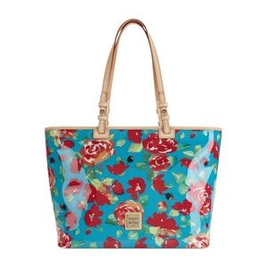 Dooney & bourke pebble floral leisure shopper tote